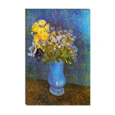 "<strong>iCanvasArt</strong> ""Vase of Lilacs, Daisies, and Anemones"" Canvas Wall Art by Vincent Van Gogh"