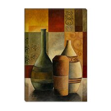 "<strong>iCanvasArt</strong> ""Three Vases"" Canvas Wall Art by Pablo Esteban"
