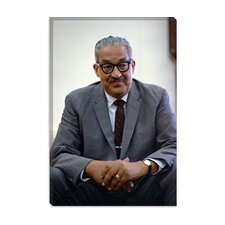 <strong>iCanvasArt</strong> Thurgood Marshall Portrait Canvas Wall Art