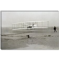 "<strong>iCanvasArt</strong> ""The Wright Brothers - First Flight"" Photography by Kitty Hawk"