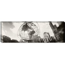 <strong>iCanvasArt</strong> Steel Globe, Columbus Circle, Manhattan, New York City, New York State Canvas Wall Art