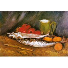 "<strong>iCanvasArt</strong> ""Still Life with Mackerel, Lemon, and Tomato"" Canvas Wall Art by Vincent Van Gogh"