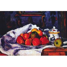 """Still Life Bowl of Apples"" Canvas Wall Art by Paul Cezanne"