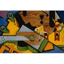 "<strong>iCanvasArt</strong> ""Still Life with a Guitar, 1913"" Canvas Wall Art by Juan Gris"