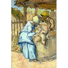 """The Sheep-Shearer (After Millet)"" Canvas Wall Art by Vincent Van Gogh"