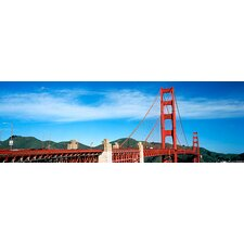 <strong>iCanvasArt</strong> Suspension Bridge Across a Bay, Golden Gate Bridge, San Francisco Bay, San Francisco, California Canvas Wall Art