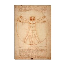"""Vitruvian Man 1492"" Canvas Wall Art by Leonardo Da Vinci"
