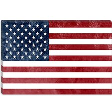 <strong>iCanvasArt</strong> U.S.A. Flag Canvas Wall Art
