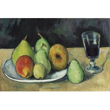 """Verre Et Poires 1879-1880"" Canvas Wall Art by Paul Cezanne"