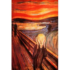 "<strong>iCanvasArt</strong> ""The Scream"" Canvas Wall Art by Edvard Munch"
