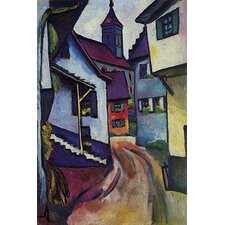 "<strong>iCanvasArt</strong> ""Street with Church with Kandern"" Canvas Wall Art by August Macke"