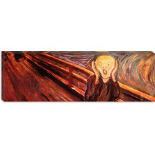 "<strong>iCanvasArt</strong> ""The Scream"" Panoramic Canvas Wall Art by Edvard Munch"
