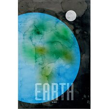 "<strong>iCanvasArt</strong> ""The Planet Earth"" Canvas Wall Art by Michael Thompsett"