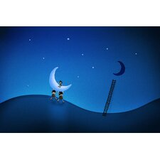 <strong>iCanvasArt</strong> Stealing the Moon Children Art Canvas Wall Art