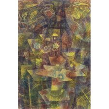 """Still Life with Autumn Flowers (Herbstblumen Stilleben) 1925"" Canvas Wall Art by Paul Klee"