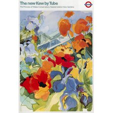 "<strong>iCanvasArt</strong> ""The New Kew (Gardens)"" Vintage Poster by Tube London Underground"