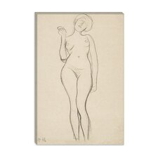 """Standing Femal Nude with Raised Right Arm"" Canvas Wall Art by Gustav Klimt"