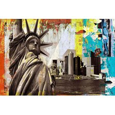 "<strong>iCanvasArt</strong> ""Statue of Liberty"" Canvas Wall Art by Luz"