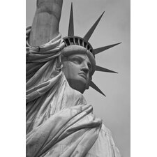 <strong>iCanvasArt</strong> Statue of Liberty Black/White Photographic