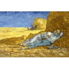 "<strong>iCanvasArt</strong> ""The Siesta (After Millet)"" Canvas Wall Art by Vincent Van Gogh"