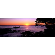 <strong>iCanvasArt</strong> Sunset over the Sea, Point Lobos State Reserve, Carmel, Monterey County, California Canvas Wall Art