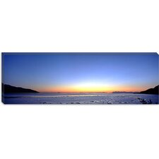 Sunset over the Sea, Turnagain Arm, Cook Inlet, Near Anchorage, Alaska Canvas Wall Art