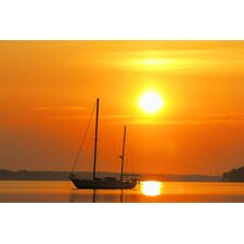 Photography Sunrise Sail Boat Graphic Art on Canvas