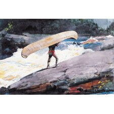 """The Portage 1897"" Canvas Wall Art by Winslow Homer"