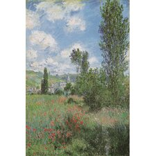 """View of Vetheiul 1880"" Canvas Wall Art by Claude Monet"