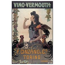Vino Vermouth Advertising Vintage Poster