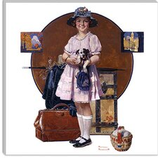 """Vacation's Over (Girl Returning From Summer Trip)"" Canvas Wall Art by Norman Rockwell"