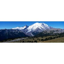 Snowcapped mountain, Mt Rainier, Mt Rainier National Park, Pierce County, Washington State Canvas Wall Art