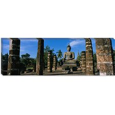 <strong>iCanvasArt</strong> Statue of Buddha in a Temple, Wat Mahathat, Sukhothai, Thailand Canvas Wall Art