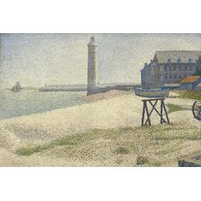 "<strong>iCanvasArt</strong> ""The Lighthouse at Honfleur"" Canvas Wall Art by Georges Seurat"
