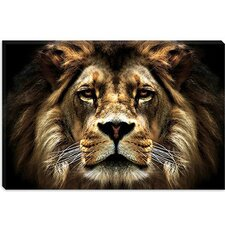 <strong>iCanvasArt</strong> The Lion from SD Smart Collection Canvas Wall Art