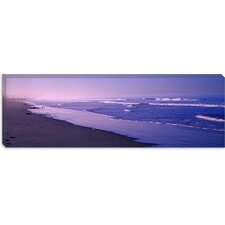 <strong>iCanvasArt</strong> Surf on the Beach, Santa Monica, Los Angeles County, California Canvas Wall Art