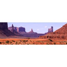 <strong>iCanvasArt</strong> View to Northwest from 1st Marker in the Valley, Monument Valley, Arizona Canvas Wall Art