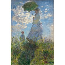 """Woman with a Parasol (Madame Monet and Her Son) 1875"" Canvas Wall Art by Claude Monet"