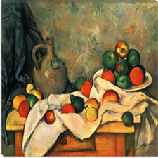"<strong>iCanvasArt</strong> ""Still Life, Drapery, Pitcher, and Fruit Bowl"" Canvas Wall Art by Paul Cezanne"