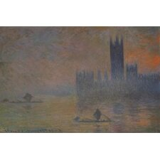 """The Houses of Parliament 1902-1904"" Canvas Wall Art by Claude Monet"