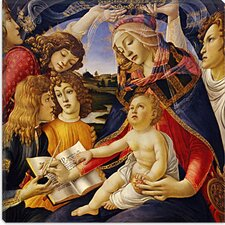 "<strong>iCanvasArt</strong> ""The Madonna of the Magnificat"" Canvas Wall Art by Botticelli Sandro"
