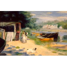 "<strong>iCanvasArt</strong> ""View of Bougival 1873"" Canvas Wall Art by Auguste Renoir Aka Pierre"