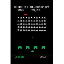 <strong>iCanvasArt</strong> Space Invaders - Battle Stage Canvas Wall Art