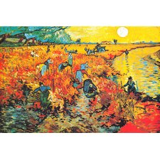 "<strong>iCanvasArt</strong> ""The Red Vineyard At Arles"" Canvas Wall Art by Vincent Van Gogh"