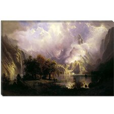 """View of Rocky Mountains"" Canvas Wall Art by Albert Bierstadt"