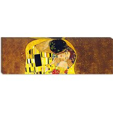 "<strong>iCanvasArt</strong> ""The Kiss"" Panoramic Canvas Wall Art by Gustav Klimt"
