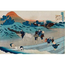 "<strong>iCanvasArt</strong> ""The One Hundred Poems as Told by the Nurse"" Canvas Wall Art by Katsushika Hokusai"