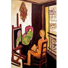 "<strong>iCanvasArt</strong> ""The Painter and his Model"" Canvas Wall Art by Henri Matisse"