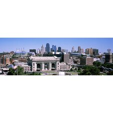 Union Station with City skyline in Background, Kansas City, Missouri Canvas Wall Art