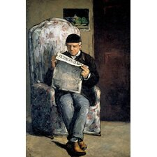 """The Artist's Father (Reading L'Evenement) 1866"" Canvas Wall Art by Paul Cezanne"